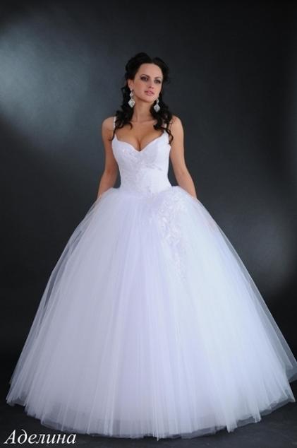 Фото свадебных платьев не пышные белые